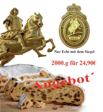 Original Dresdner Christstollen kaufen feinster Butterstollen nur echt mit dem Siegel
